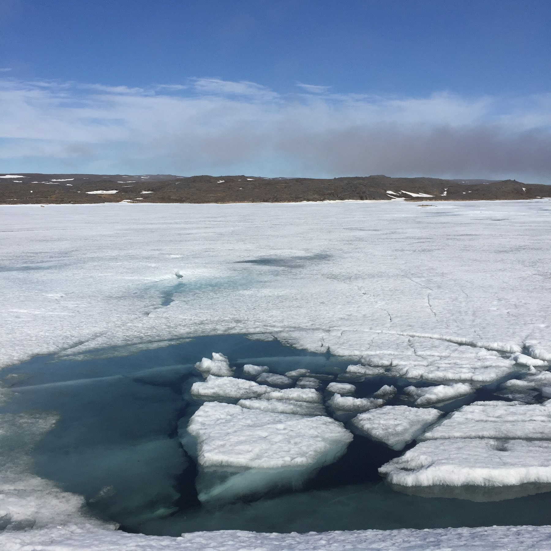 melting lake ice, June 2019