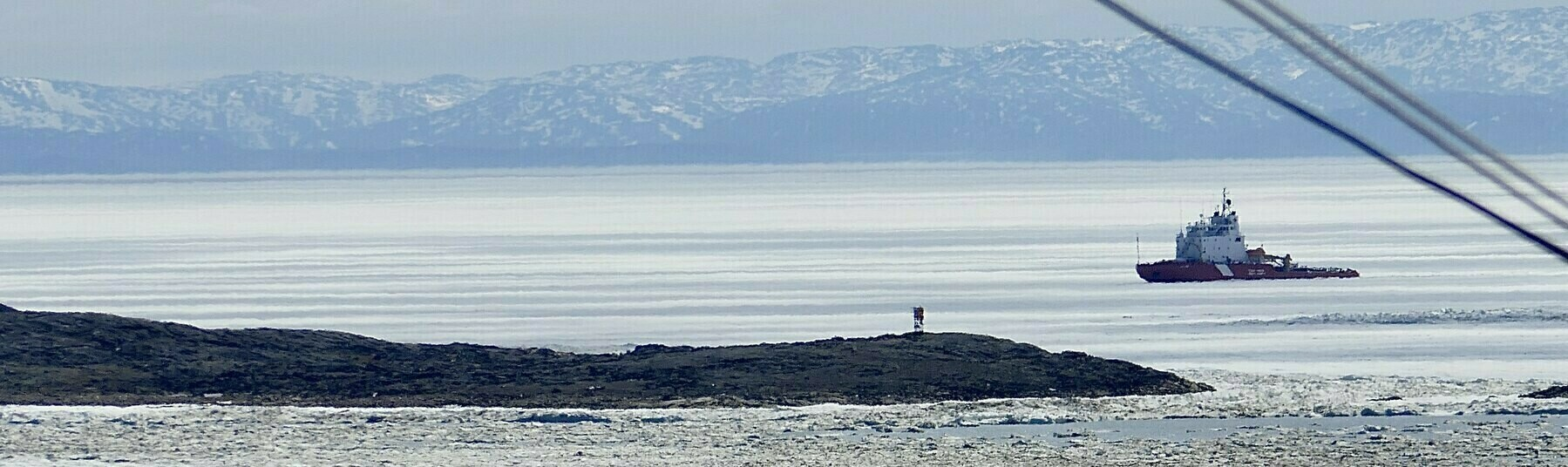 The icebreaker CCGS Terry Fox sits in Frobisher Bay on Saturday, 27.Jun.2020